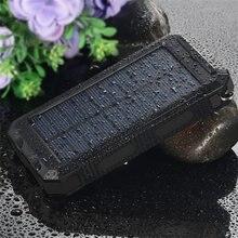 8000mah Portable Solar Power Bank Battery Charger External Solar Battery Case Pack Phone Charger PowerBank Flashlight & Compass
