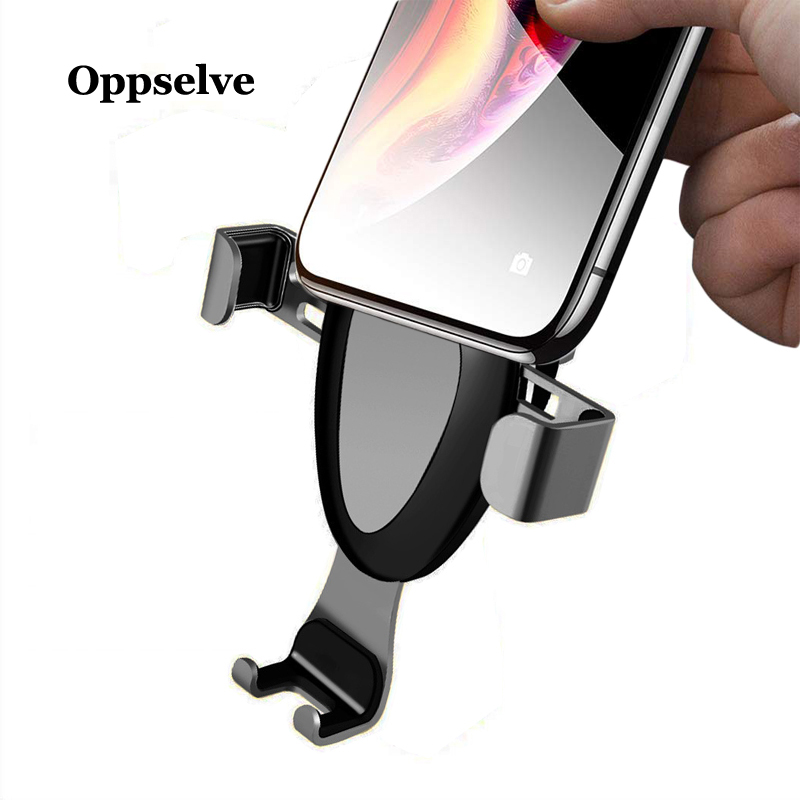 Car Holder For iPhone 8 X 7 6 6s Gravity Reaction Air Vent Mount Phone Holder Cell Phone Holder Stand For Samsung S9 S8 Xiaomi in Phone Holders Stands from Cellphones Telecommunications