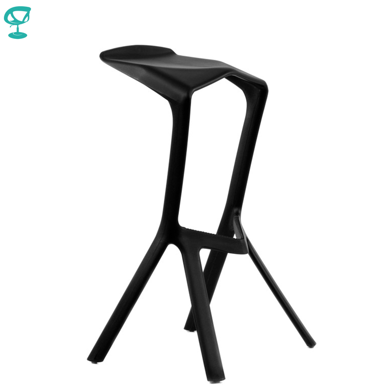 95190 Barneo N-227 Plastic High Kitchen Breakfast Bar Stool Swivel Bar Chair Black Free Shipping In Russia