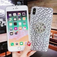for iphone x xs xr 3D Handmade Luxury Bling Diamond Rhinestone Crystal Jewelled Phone Case Cover 6 7 8 plus
