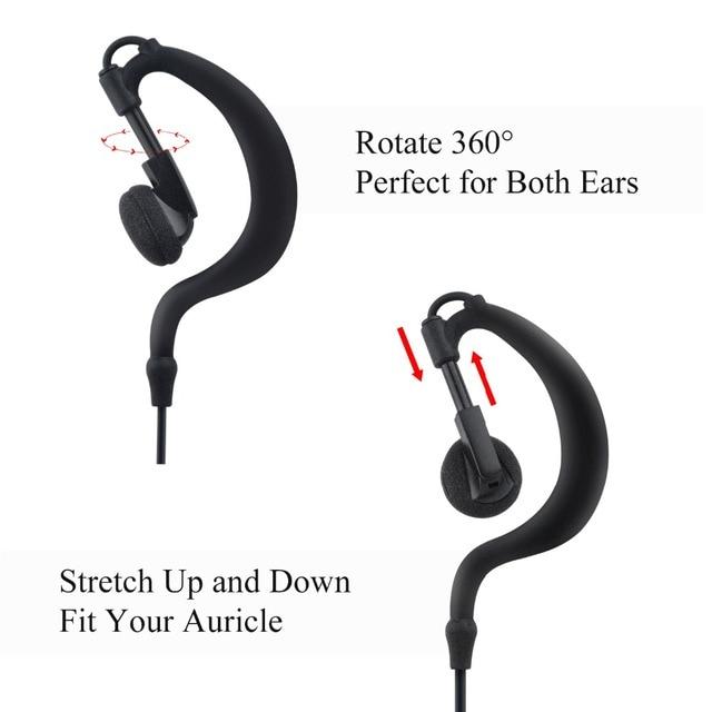 2.5mm headset with PTT MIC Walkie Talkie Earpiece for R40 Radio 115cm length earphone walkie talkie earpiece with throat mic
