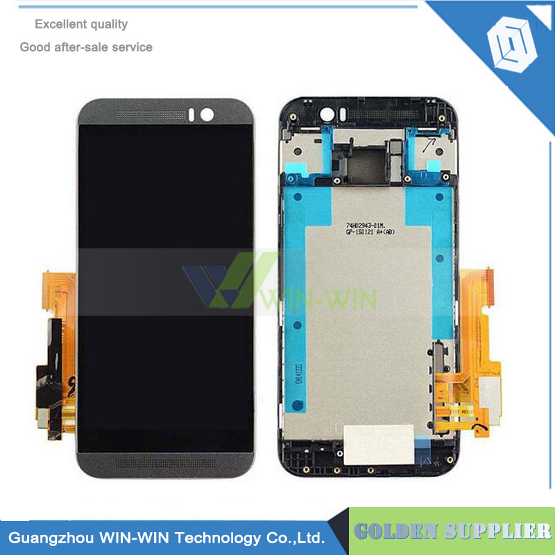 100% Tested Well Lcd +Touch Sensor For HTC One M9 LCD Screen Digitizer Assembly With Frame - Black/Silver/Gold lcd screen display touch panel digitizer with frame for htc one m9 black or silver or gold free shipping