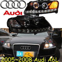 car-styling,A6L headlight,2005~2008,Free ship! A6L fog,chrome,LED,2ps+2pcs Aozoom Ballast,A6L head lamp,A6 L