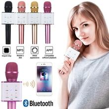 Travor Q7 Bluetooth Microphone Wireless Handheld Karaoke MIC USB Music Player Recorder KTV