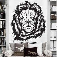 מדבקות קיר חדר שינה ילד T05003 אפריקה מלך אריות של עיצוב חדר קיר מדבקה ויניל קיר ג 'ונגל בעלי החיים אריות מדבקות