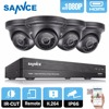 SANNCE 8CH 1080P CCTV Security System HD 1080P CCTV DVR 4PCS 2 0MP 1080P Security Cameras