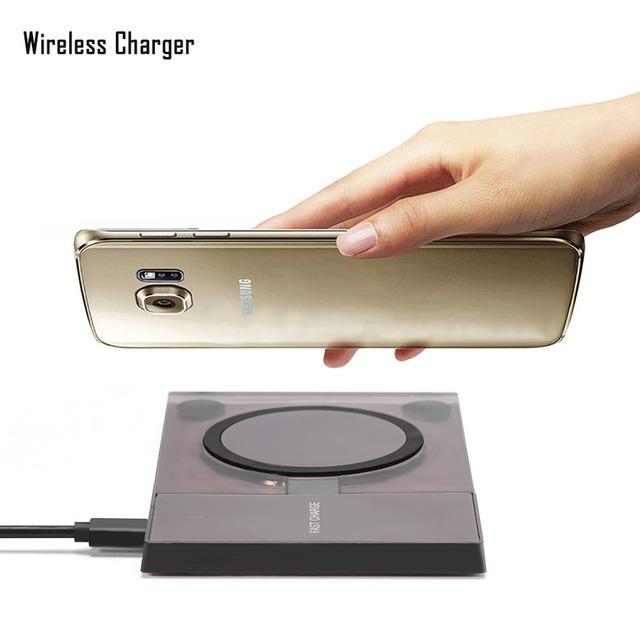 10 w carga rápida qi cargador inalámbrico para todos los dispositivos habilitados para qi para samsung para iphone para lg