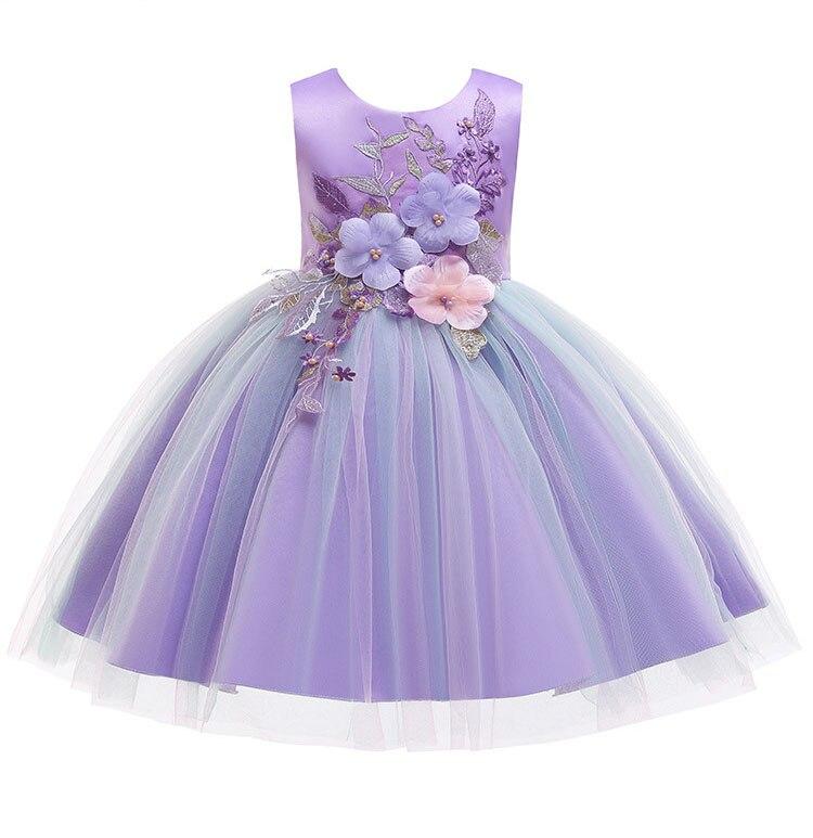 HTB1PT.RVPTpK1RjSZKPq6y3UpXaK Girls Dress Christmas Elegant Princess Dress Kids Dresses For Girl Costume Children Wedding Party Dress 10 Year vestido infantil