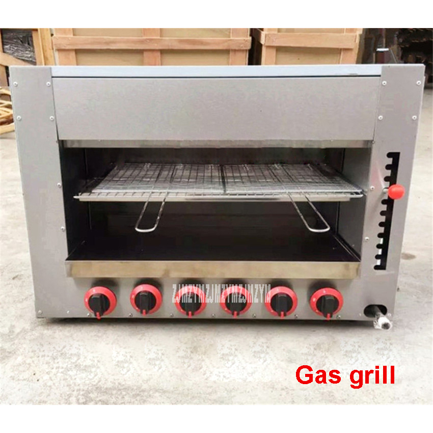 Commercial gas surface stove barbecue stove six gas oven for How to grill fish in oven