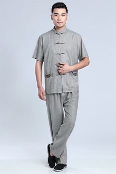 Shanghai Story Traditional Chinese Clothing for men vintage Blend Linen kung fu suit