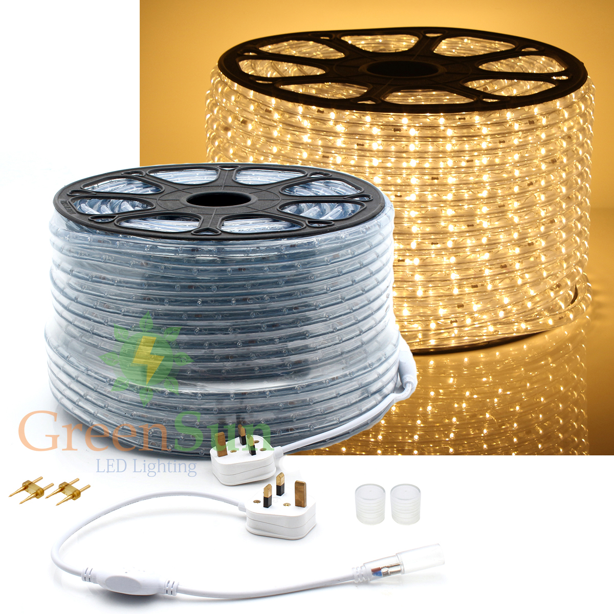 20-50M M36 leds/m 2-Wire Warm White 220V Waterproof IP68 LED Strip Light Home Garden Xmas Lamp LED Strip Light With Power line
