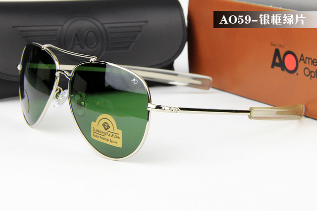 Military American Optical army pilot aviator men women sunglasses with  scratch protection lens Polarized Sun Glasses c3d5825fb0
