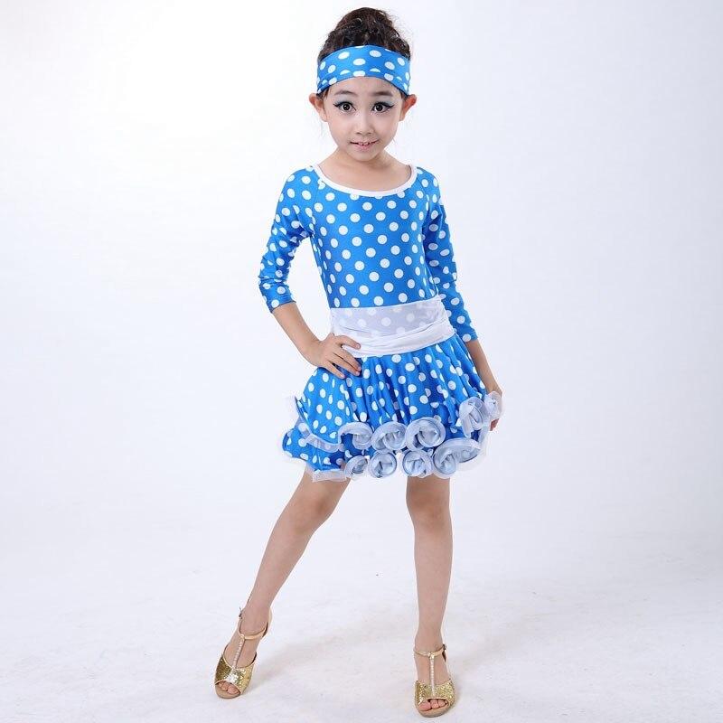 9126ccb66 Latin Dance Dress Performance Dancewear Leotard Child Latin Dance ...