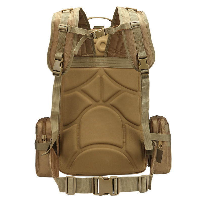 50L Tactical Backpack 4 in 1 Military Bags Army Rucksack Backpack Molle Outdoor Sport Bag Men Camping Hiking Travel Climbing Bag in Backpacks from Luggage Bags
