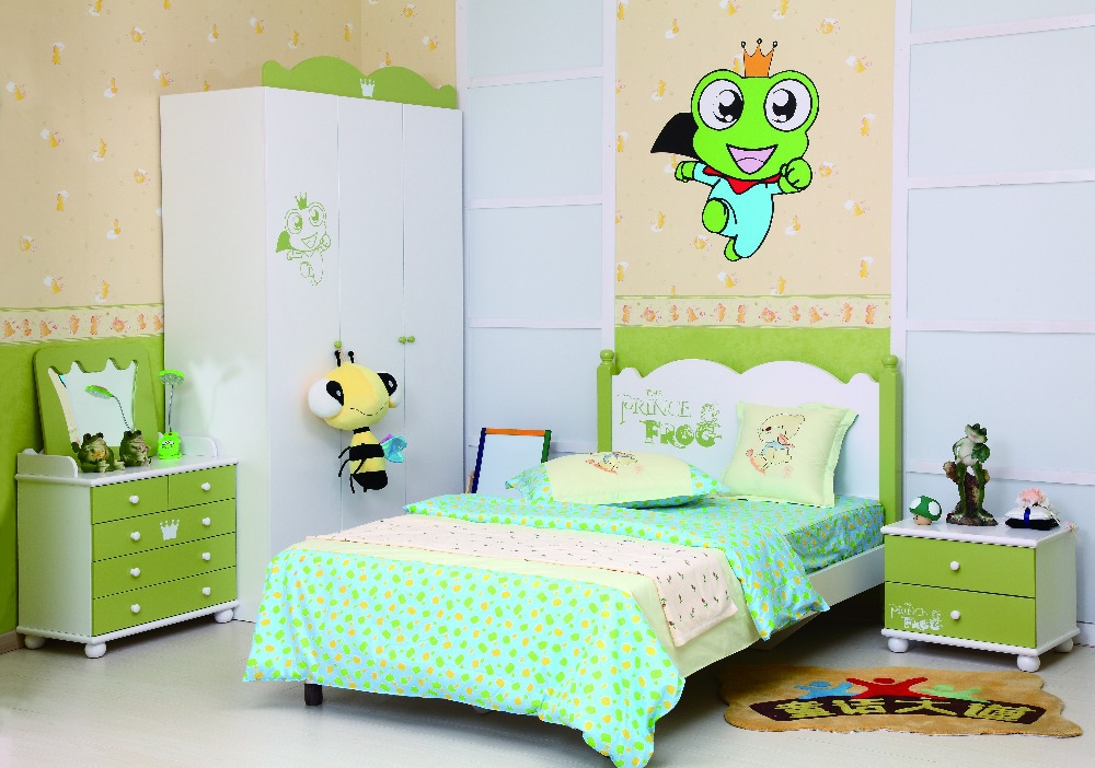2015 bedroom furniture kids bed girl boy colorful mdf made in china