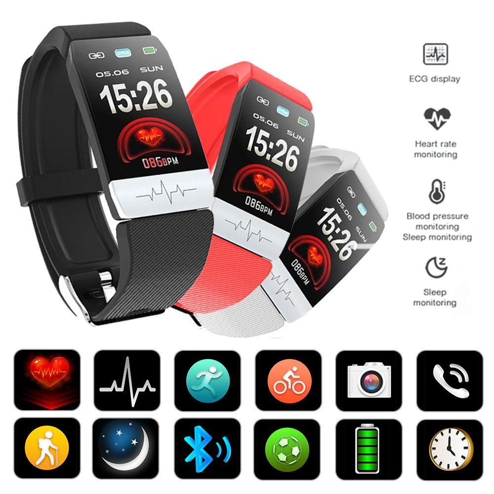 Q1S Fitness Tracker ECG PPG Waterproof Heart Rate Monitor Smart Band Weather Forecast Smart Bracelet For Men Women