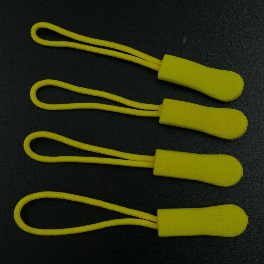 Brillante Gomma Di Silicone Colorato Cerniera Tirare Corde Zip Puller Chiusura Zaino Bagaglio 20 Pz Per Accessori Abbigliamento Fai Da Te
