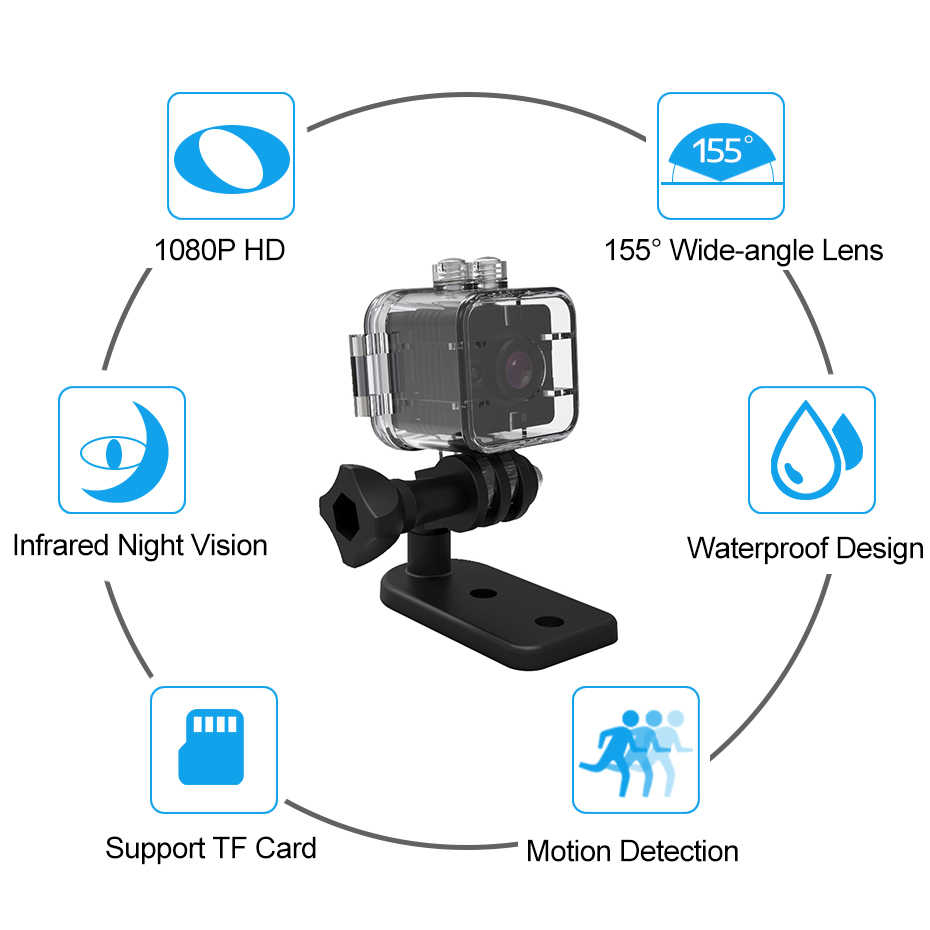 Mini Camera SQ11 SQ12 Recorder Motion Sensor Full HD 1080P Night Vision Waterproof Shell Micro Cam AVI Video Camcorder Recorder