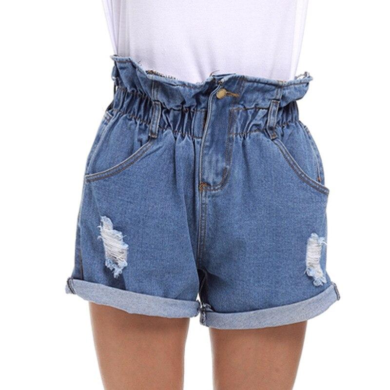 2017 New Large Size S 5XL Women Summer Jeans Code Denim Shorts Female Fat MM Slim
