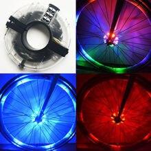 8 LED Wheel Lights Bicycle Bike Tire Color Lighting Tyre Valve Flash Spoke Light Lamp Luminous