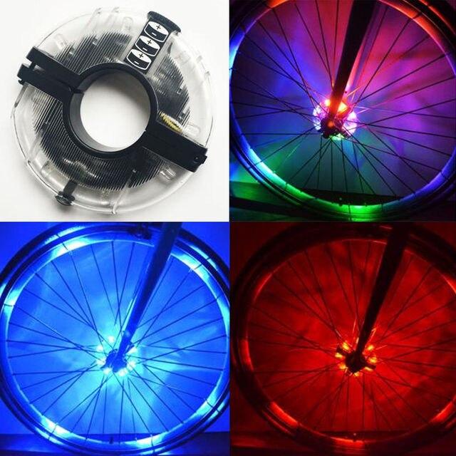 8 LED Wiel Verlichting Fiets Band Kleur Verlichting Band Valve Flash ...