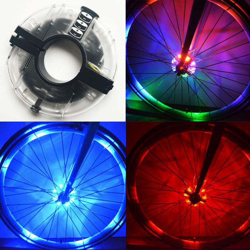 Bicycle LED Spoke Front/Tail Rear Wheel Hub Lights Waterproof Riding Warning Lamp MTB Bike Night Cycling Safety Decoration Acces