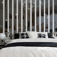 5pcs Acrylic Square decorative mirror wall stickers environmentally high-quality Bathroom livingroom bedroom