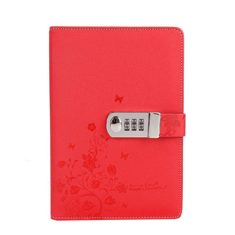 Noul notebook din piele A5 Jurnal personal cu cod de blocare Personal - Blocnotesuri și registre - Fotografie 2