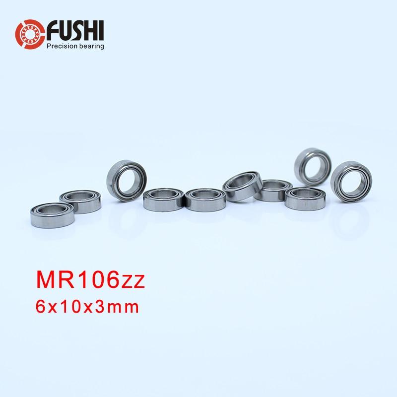 Tools & Accessories 10pcs Low Noisy Mr106zz Mr106z Mr106-zz 6x10x3 6*10*3 Deep Groove Ball Bearing Micro Miniature Small Bearing Motor Bearing