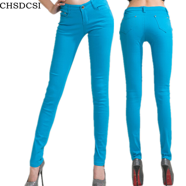 Candy Colour Pencil Trousers