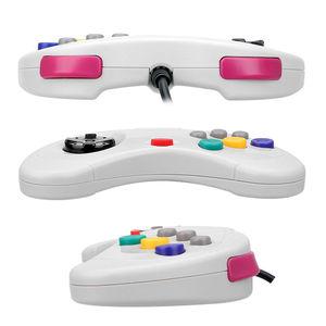 Image 4 - Sega Saturn contrôleur de jeu classique USB, contrôleur de jeu filaire USB, Gamepad, JoyPad pour système USB, noir/blanc