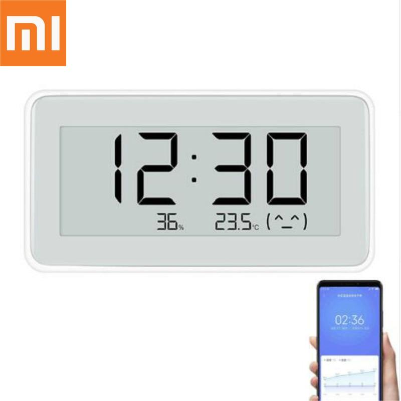 Original Xiaomi Mijia BT4.0 Wireless Smart Electric Digital clock  Outdoor Hygrometer Thermometer LCD Temperature Measuring ToolsSmart  Remote Control