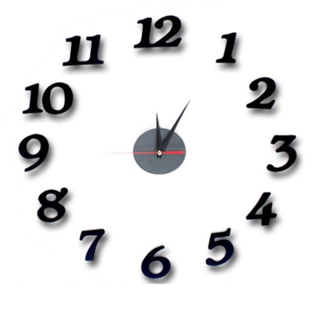 New 3d Jam Dinding Cermin Besar Jam Dinding Angka Romawi Desain Modern Jam  untuk Dekorasi Rumah 32bf8c2c3c