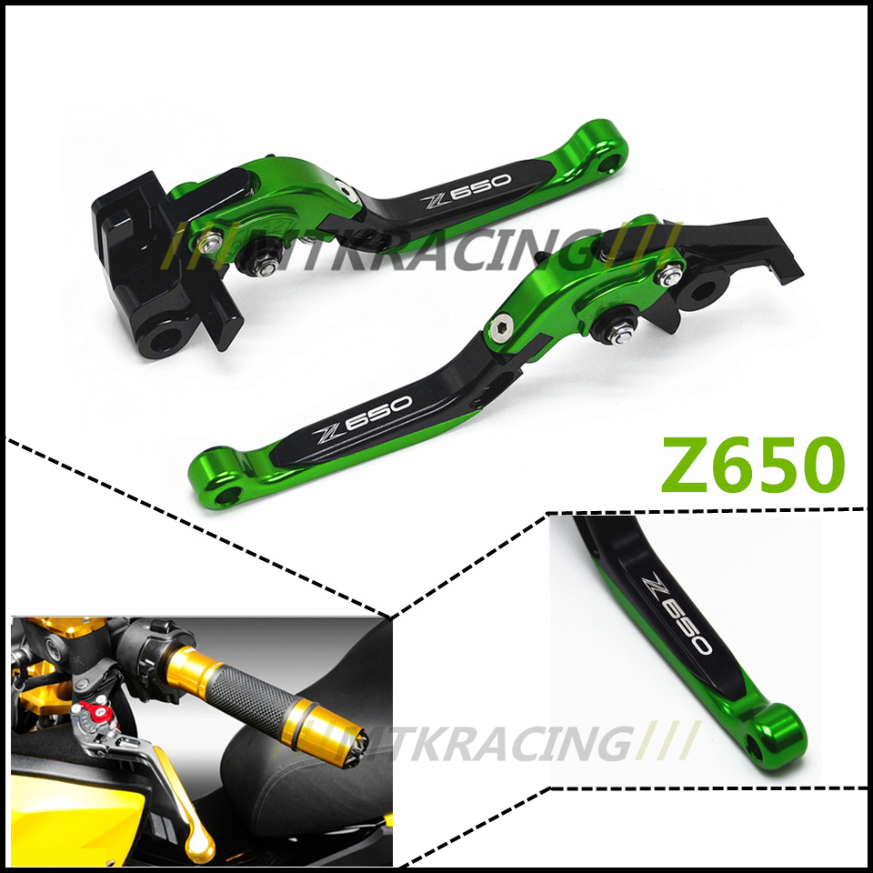 Motorcycle Adjustable Folding Extendable Brake Clutch Lever For Kawasaki Z650 Z 650 2017 adjustable folding extendable brake clutch lever for kawasaki versys 1000 versys1000 14 15 free shipping with logo motorcycle