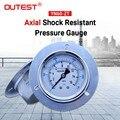 Outest датчик давления топлива воздуха измерительный прибор для компрессора 16 бар радиальной осевой металлический манометр испытательный ма...