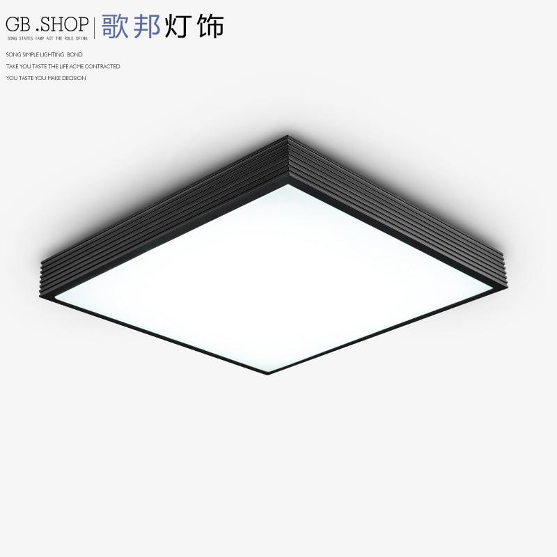 Song of State rectangular bedroom modern minimalist living room lamp Ceiling lamp LED Aluminum Ceiling creative study zzp