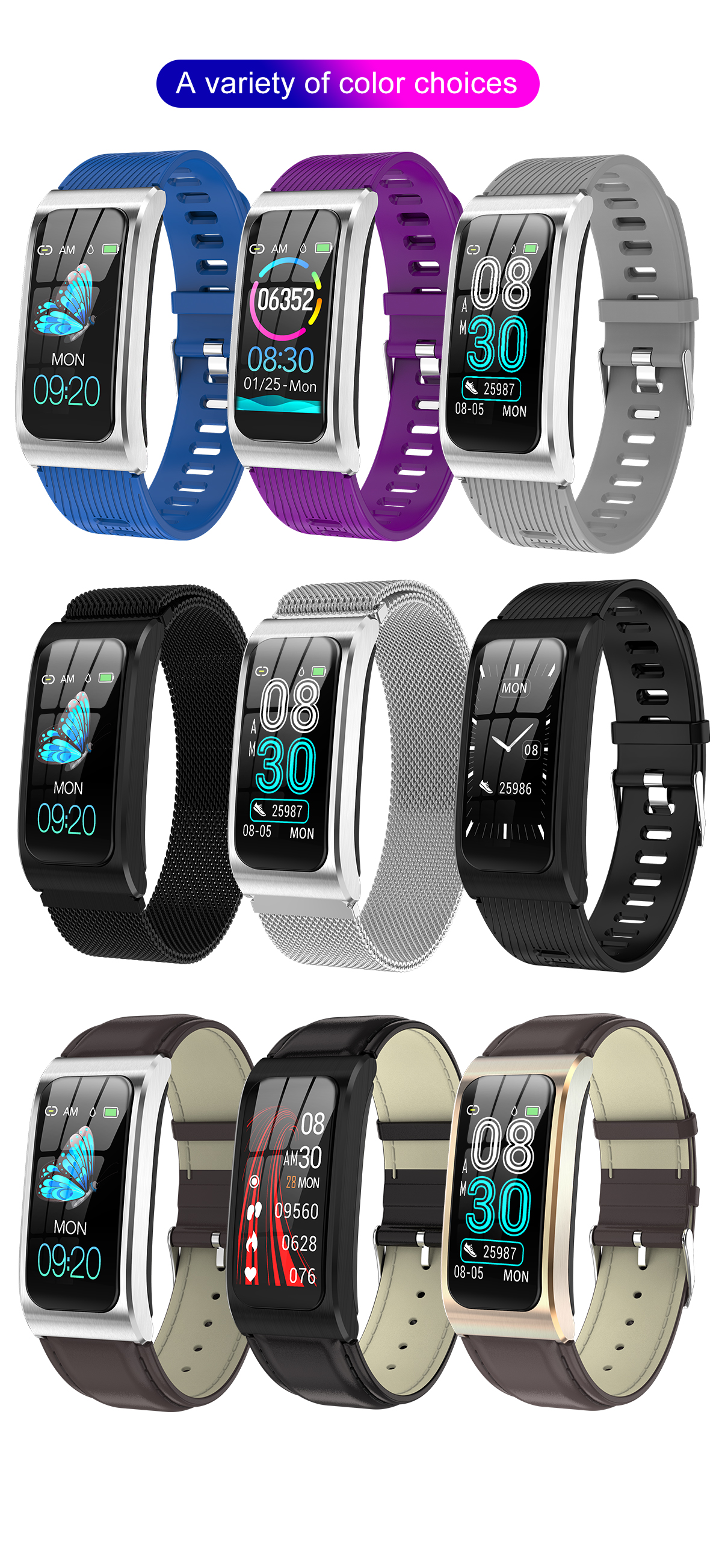 """Smartwatch 1,14"""" IP68 impermeable Android IOS 16"""