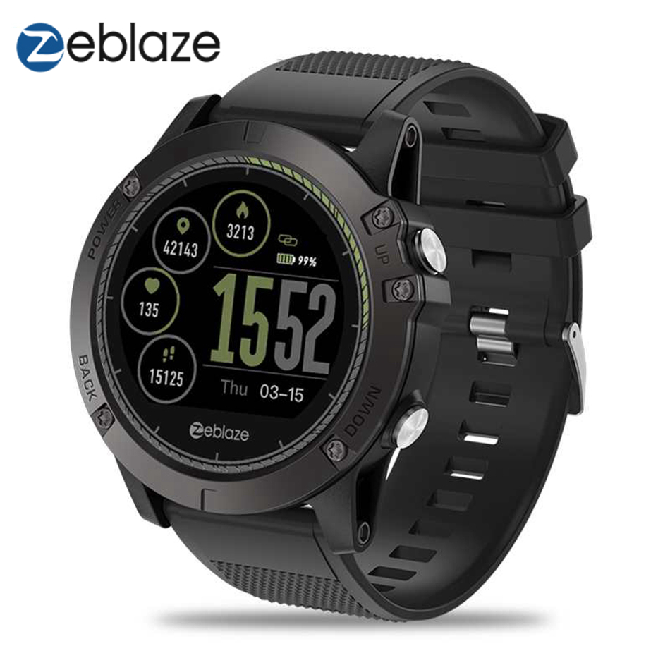 Zeblaze VIBE 3 HR Smartwatch IP67 Waterproof Wearable Device Heart Rate Monitor IPS Color <font><b>Display</b></font> Sport Smart Watch Men image
