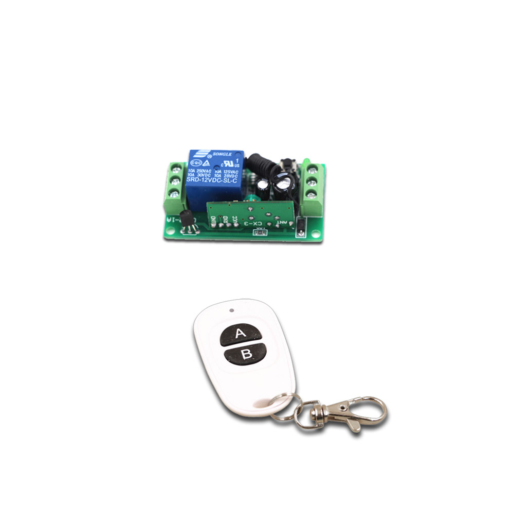 New DC9V 12V 24V Smart Home Remote Controller Wireless Universal Switch with A B Key Transmitter +Receiver 315/433mhz new design wireless ac220v remote control switch with manual button receiver for smart home 315 433mhz free shipping