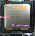 INTEL XEON X5492 3.4 GHz/12 M/1600 Mhz/CPU igual a LGA775 Core 2 Quad Q9650 Q9550 CPU, funciona em LGA775 mainboard (nenhum adaptador da necessidade)