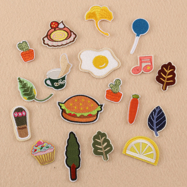 18 Design Small embroidery Patches For Clothing Iron Appliques Stickers  Decor Patches DIY Patches For clothes