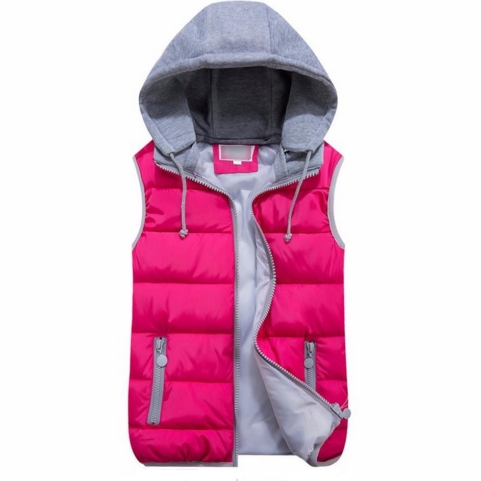 러시아어 여성의 겨울 조끼 새로운 목록 패션 다운 다운 조끼 후드 두껍게 겉옷 캐주얼 재킷 코트 S-XXXL