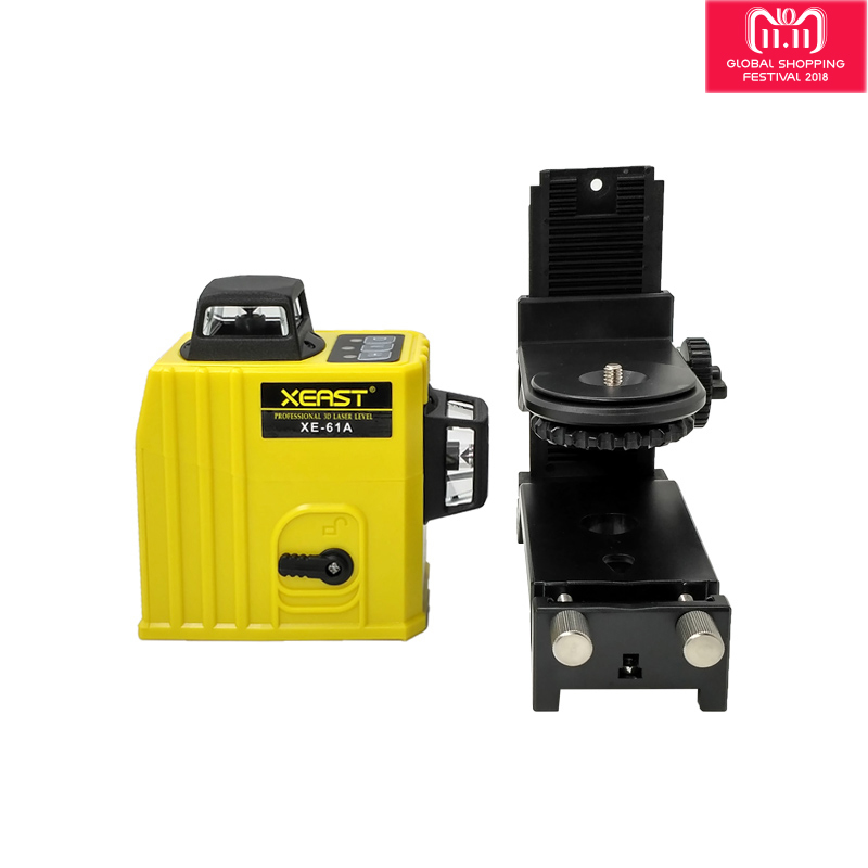 XEAST XE-61A 12 lines laser level 360 Self-leveling Cross Line 3D Laser Level Red Beam adjustable accuracy shipping from Russian xeast xe 17a new 3d red laser level 8 lines tilt mode self leveling meter 360 degree rotary cross red beam