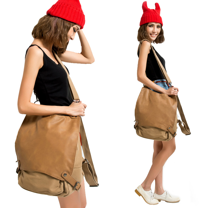 2017 designer fashion women cross body fashion motorcycle bag casual canvas daypack women's messenger shoulder bags items SL36 squirrel fashion bucket canvas girls cross body shoulder bag vogue pattern brand casual versatile drawstring women handbags
