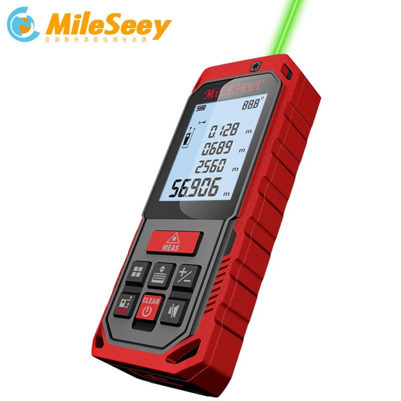 Mileseey S2 S8G Green Laser Rangefinder Digital Laser Distance Meter Laser Tape Measure Diastimeter Tool