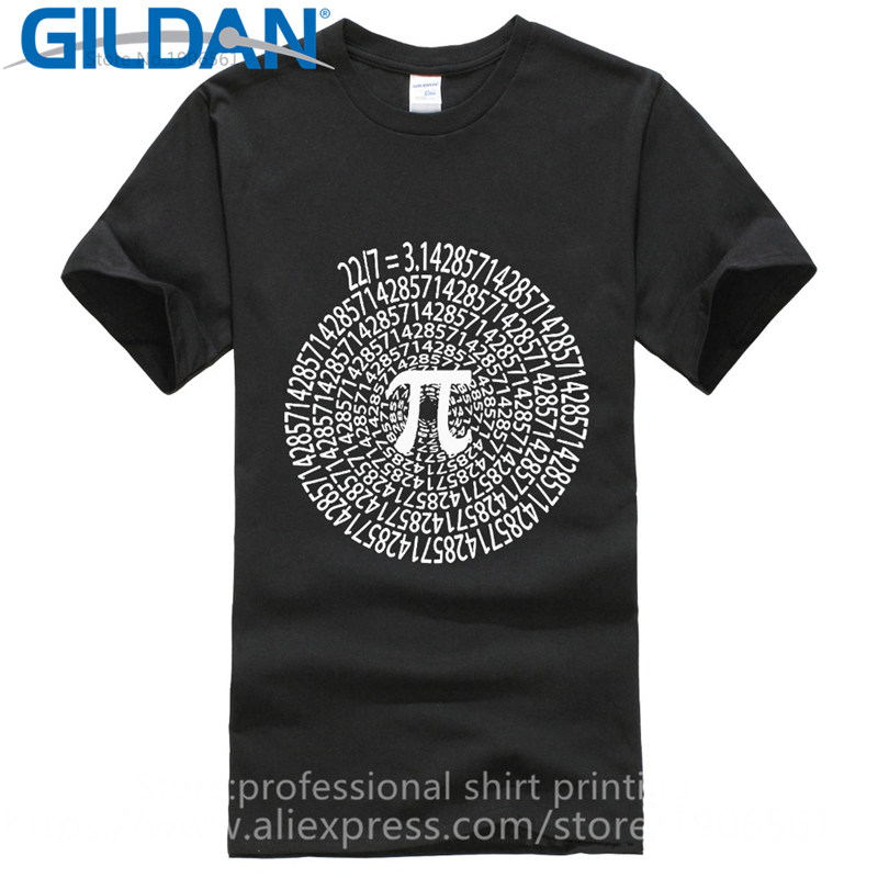 2017 New 100% Cotton Premium Men Pi Approximation Day Stem Math Science Nerd Spiral O-Neck Short-Sleeve Tee Shirts