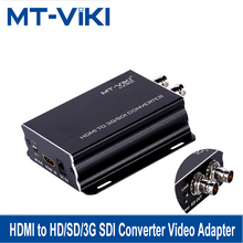 MT-VIKI HDMI to HD/SD/3G SDI Converter Video Adapter Full HD High Quality HDMI In 2*SDI Out HDMI2SDI 1080P SDI-H03 original genuine ezcap286 sdi hdmi 1080p hd video game capture card recorder box streaming video recording to usb disk sd card