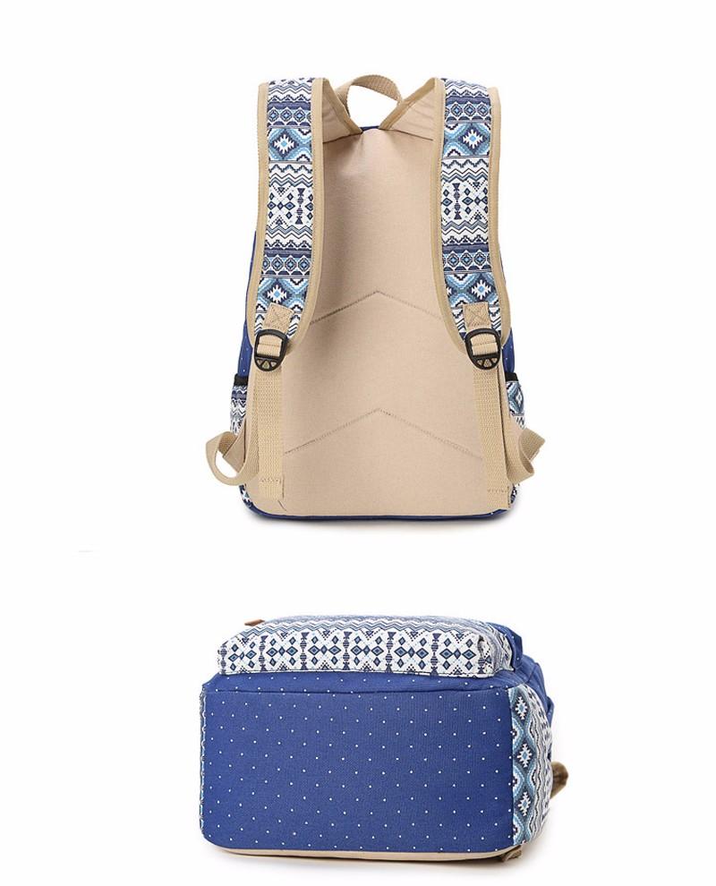 Canvas Printing Backpack Women School Bags for Teenage Girls Cute Bookbags Laptop Backpacks Female Bagpack 3 Piece one Set 11