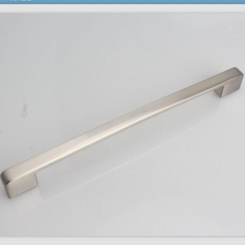 224mm modern simple furniture large handles silver chrome kichen cabinet wardrobe handle 8.8 stain nickel dresser cupboard pull chrome plated modern handle c c 224mm l 248mm h 23mm drawers cabinets