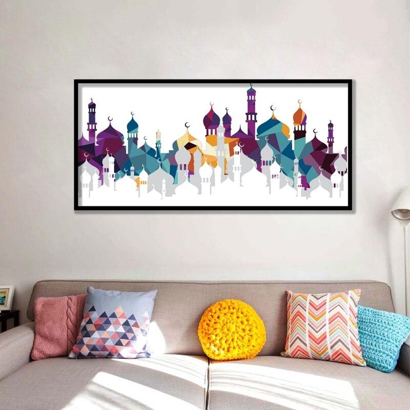 caligrafia rabe islam allah muulmano mesquita fotos onipotente pintura da lona cartaz turquesa floral impresso